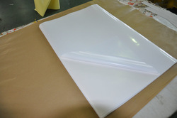 gloss white self adhesive PVC in sheets