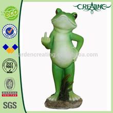 "12"" Garden & Home Decorative Frog W/Finger Up Statue"