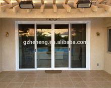 Good Quality White Color Cheap PVC Sliding Door /double glaze panel