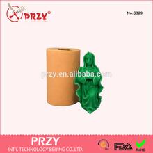 Humano 3d molde de silicona para vela