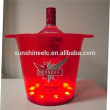 2014 Hot sale colorful waterproof acrylic beer bottle holder LED flash function