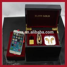 "NEW!!! 5.5"" Small design Piano black lacquer finish luxury wooden iphone 6 box"