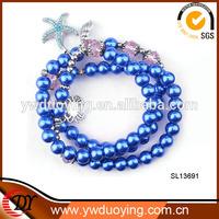 Blue Beads Nice Charm Cheap Artificial Jewellery Bracelet