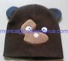 cute applique pattern knit child hat