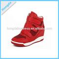 2014-2015 nova moda senhora velcro ocultos wedge sneaker