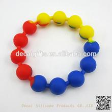 silicone mix color rubber bands smart bracelets elegant