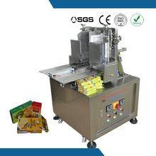 Semi auto tissue paper box and food box hot melt glue sealing machine
