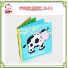 Custom baby PVC bath book for Baby Education, cute baby safe bath book ,waterproof happy farm baby bath book