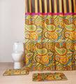 A todo color de tamaño completo impreso textil cortina de la ducha