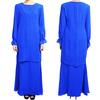 2014 design modern pleat Emerald Blue baju kurung