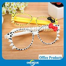 Multi-function ball point pen glasses shaped ball pen
