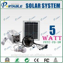 5watt solar kit / home lighting power solar panel system
