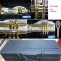 Latón instrumentos de música de cuerpo de latón de laca de oro barato trompeta astr- 060 hecho en china