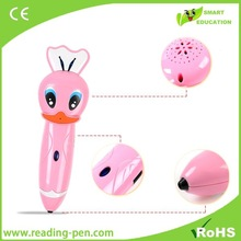 Hot-selling Early educational kids point reading pen, language translator, touch read pen with audio books