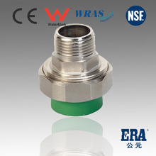 Green ppr pipe fittings Male Thread Union PPR union for hot water ppr pipe