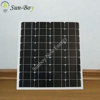 Monocrystalline 50W Photovoltaic Solar Panel