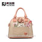 Beautiful fashion cute lady fashion hand bag,shoulder bag for girls with flower pattern