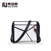 Sample design lady shoulder bag hanging pattern female bag shoulder bag for women in matching color
