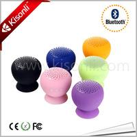 Factory Top Sell Mushroom sucker cup bluetooth speaker with OEM service