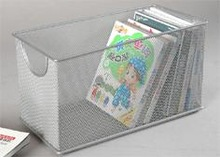 Hot Sale Home Organization/ Office Desk Organizer Metal Mesh Iron CD Storage Box