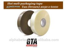 Strong holding 45 micron 2 meter jumbo hot melt adhesive tape