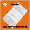 customized resealable PE clear zipper plastic bag