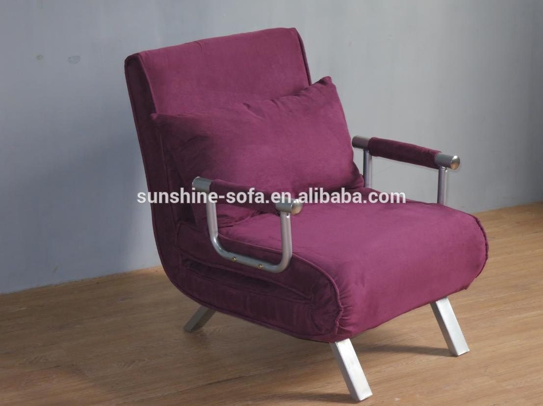 전체 철강 구조 microfiber 이불 소파 침대 침대 소파 하나의 의자 ...