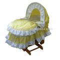 Berceau bébé couffin bassinet, Bébé bassinet avec réglable canopy, Bébé berceau berceau avec freinage roues