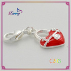 C203 Sweet Dog Shaped Pendant Jewelry,Fashion Silver Thomas Charms Lobster Clasp for Thomas Saboo Bracelets Jewelry