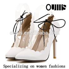 lace shoes women high heel white shoes PF3103