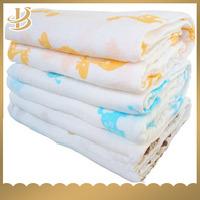 baby muslin soft cotton swaddle blanket 100% cotton prewash