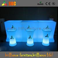 multi use furniture / Glowing modern rgb led bar table with wheels