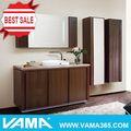 V-17181 moderna de chão de madeira de borracha armário de banheiro