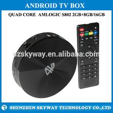 4K Amlogic Quad Core S82 Tv Box Xbmc Amlogic S802 Quad Core Cortex-A9 Hdmi A Type