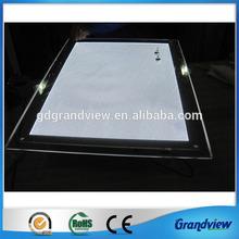 Acrylic edge lit led light frame