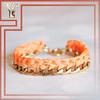 Handmade Zinc Alloy Chain Unique Design Bracelet Elastic