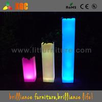 led light wedding flowers and pillars