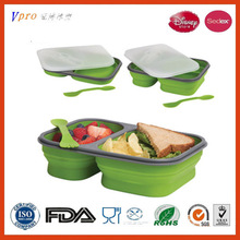 collapsible silicone microwave safe lunch box