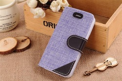 Pastoral style pattern Folio Flip PU Leather Wallet Case With Card Slot and Stand for Iphone 6