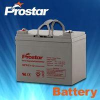 Sealed Maintenance Free UPS Gel Batteries For Solar Panel 12V33AH