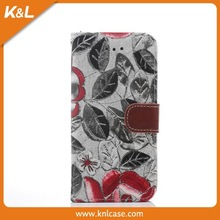 Mobile Phone PU Case for iPhone 6, 4 colors feather pattern, PU leather