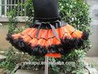 Cute style orange & black halloween skirt for baby girl