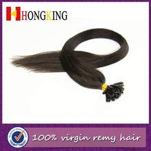 Pre-Bonded Human Hair Extension Black