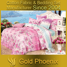 Good quality reactive printed twill 100% bedding cotton fabric made in china