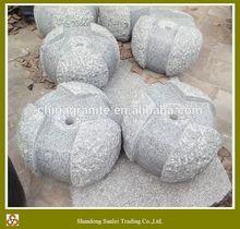 beautiful grey granite three picecs ball garden water fountain
