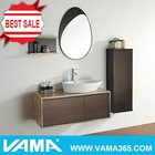 V-11015 wooden wall mounted bathroom sanitary ware cabinet