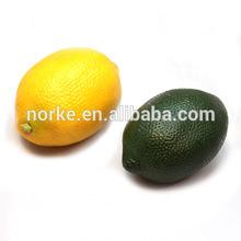 Decorative Vegetable and Fruit Yellow Lemon Green Lime Fake Fruits