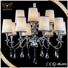 lighting online in design hanging decoration fabric crystal chandelier lighting