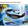 Câmera escondida estilo e Pinhole tecnologia câmera escondida à prova d ' água de óculos de sol com MP3 Player câmera PQ188