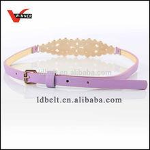 Fashion women PU belt with bead